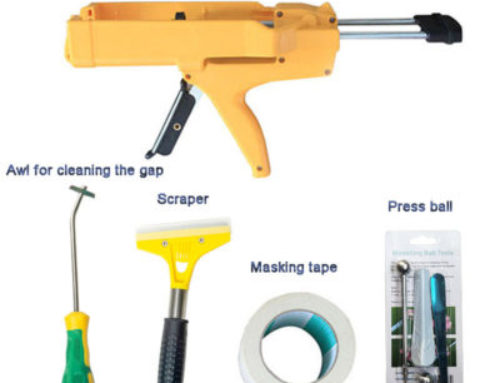 What tools are needed for the construction of ceramic tile sealant?