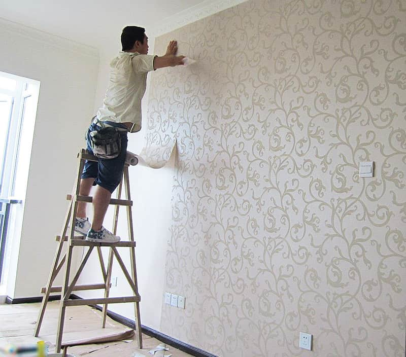 after painting or pasting wallpaper