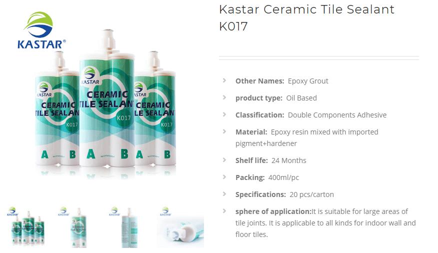 Kastar Ceramic Tile Sealant K017