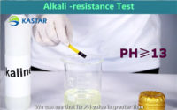 The test of Alkali-resistance