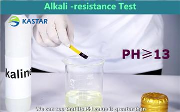 The test of Alkali-resistance