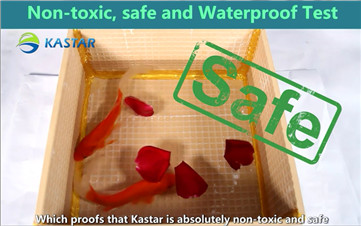 The test of Non-toxic, safe and waterproof