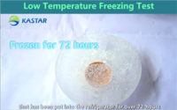 The test of low-temperature freezing
