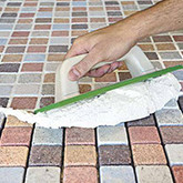 Traditional tile grout will Difficult To Clean