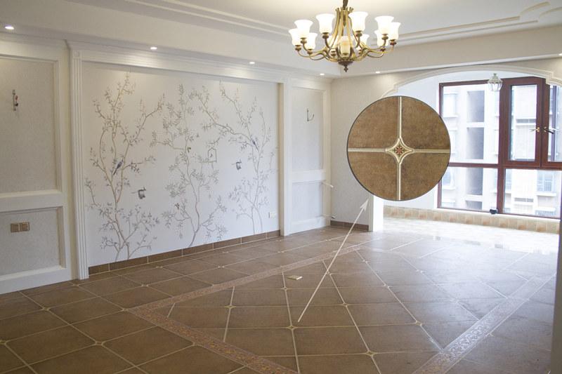The living room floor tile