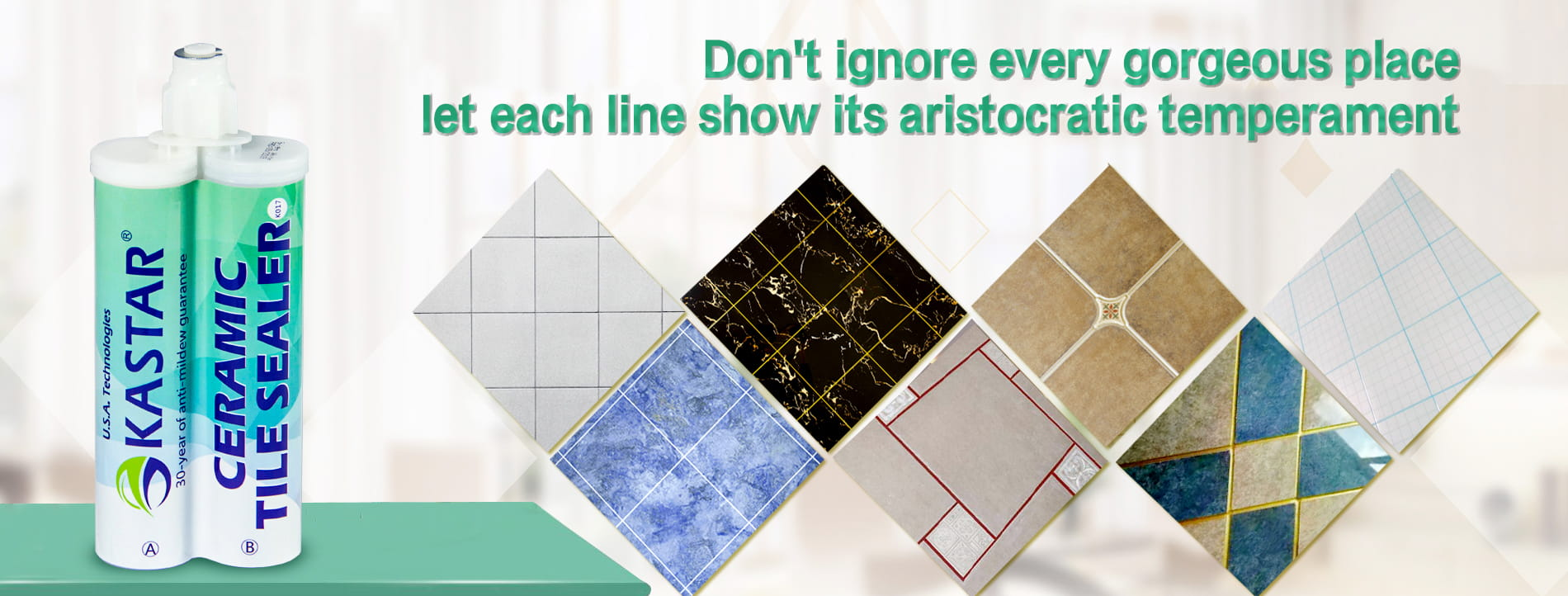 Perfect replacement of traditional tile grout, new products, new markets, the new road to wealth!