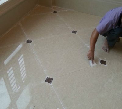 tile joint grouting usually likes this