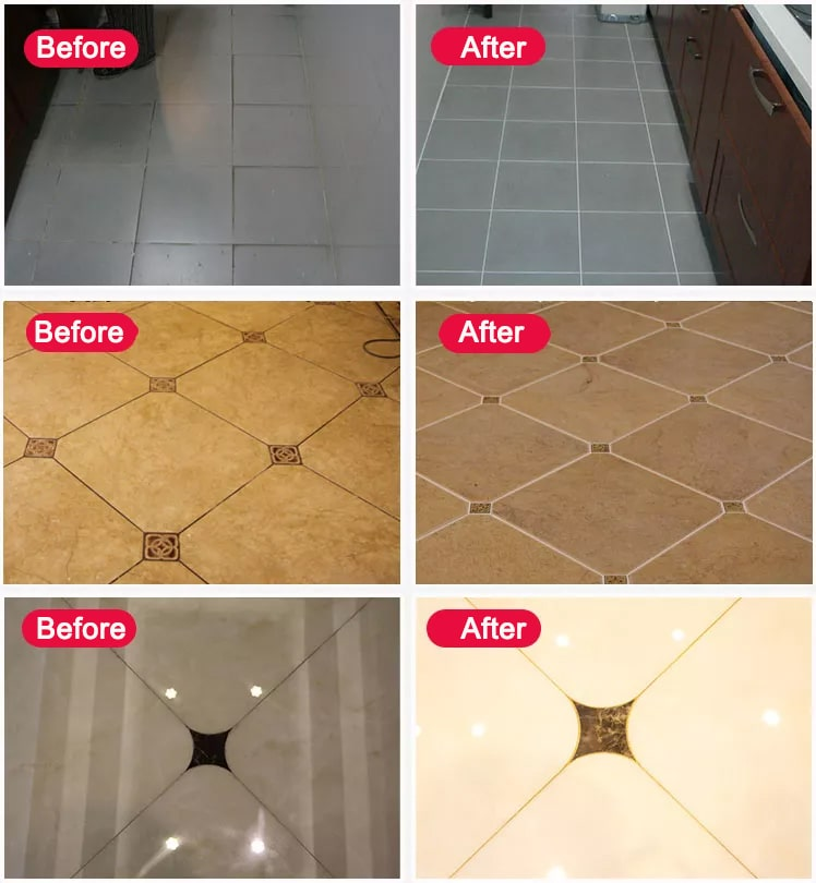 After using tile grout, so beautiful