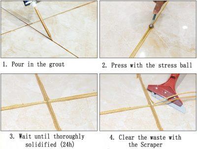 Kastar tile grout - four steps