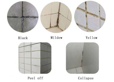 Traditional tile grout