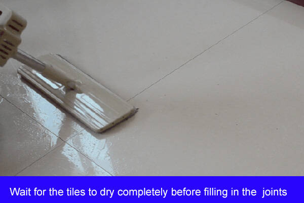 The tiles are not dry enough