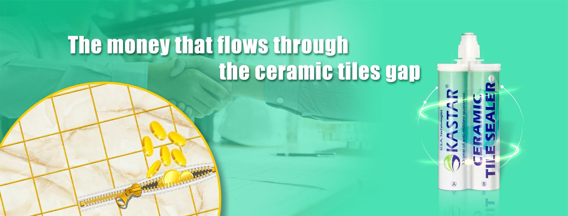 The money that flows through the ceramic tiles gap