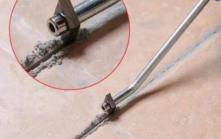Treatment of original caulking material